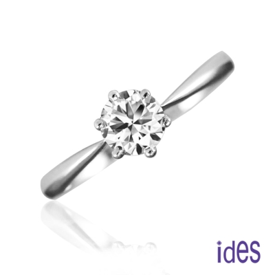 ides愛蒂思 精選50分E/VVS1八心八箭完美車工鑽石戒指求婚結婚戒/六爪