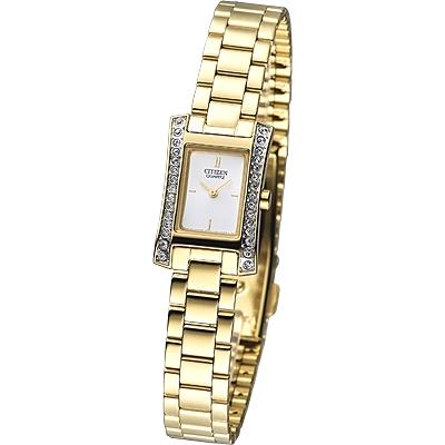 CITIZEN 麗緻時尚晶鑽女錶(EZ6312-52A)-白xIP金/15mm