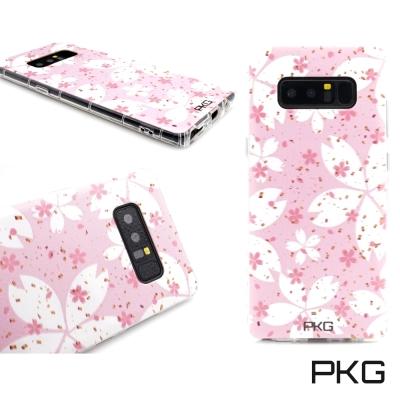 PKG SAMSUNG Note8 彩繪空壓氣囊保護殼-浮雕彩繪-粉紅花瓣