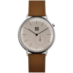ZOOM Pure 生活觀察家極簡設計腕錶-駝色44mm
