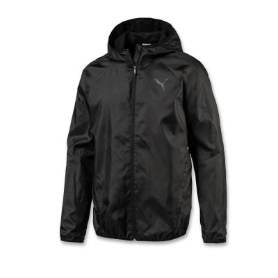 PUMA-男性基本系列素色風衣外套-黑色-亞規