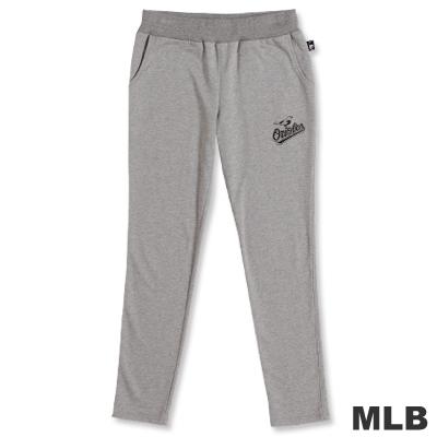 MLB-巴爾的摩金鶯隊修身剪裁舒適長褲-麻灰(女)