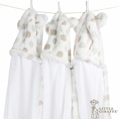 Little Giraffe Luxe 豪華系列彩色點點款連帽浴巾