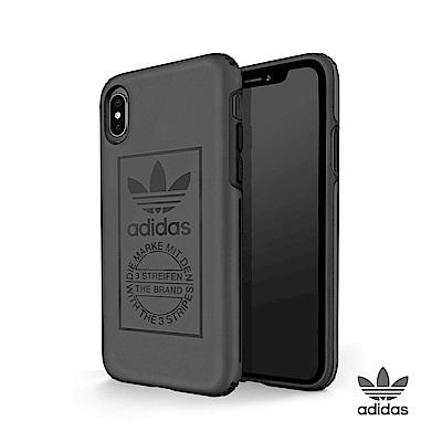 adidas iPhone X 經典三葉草 全保護手機殼 簡約灰