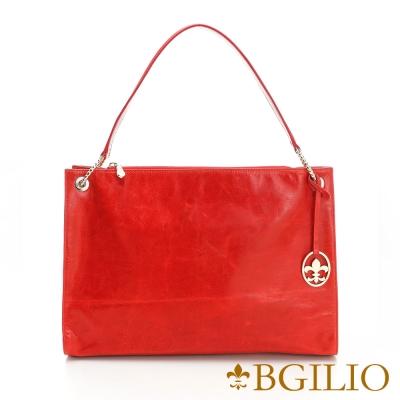 義大利BGilio - 義大利牛皮夢幻五金肩背方包-紅色 1944.001A-01