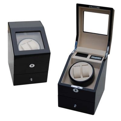 木質鏡面烤漆自動腕錶上鍊機-2轉台+3收藏