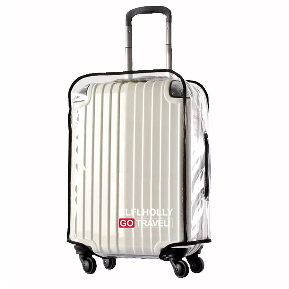 PUSH! 旅遊用品 ABS.PVC全透明行李箱專用防水保護套防塵套箱套30吋新款S39