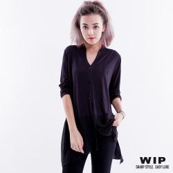 WIP X 2% 異材質拼接襯衫_黑