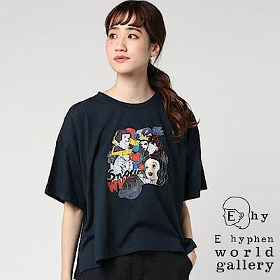 E hyphen Disney聯名款-白雪公主復古打印T恤
