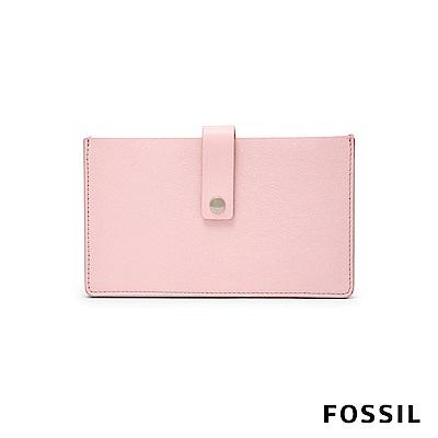 FOSSIL VALE 多功能貨幣夾 中夾-櫻花粉