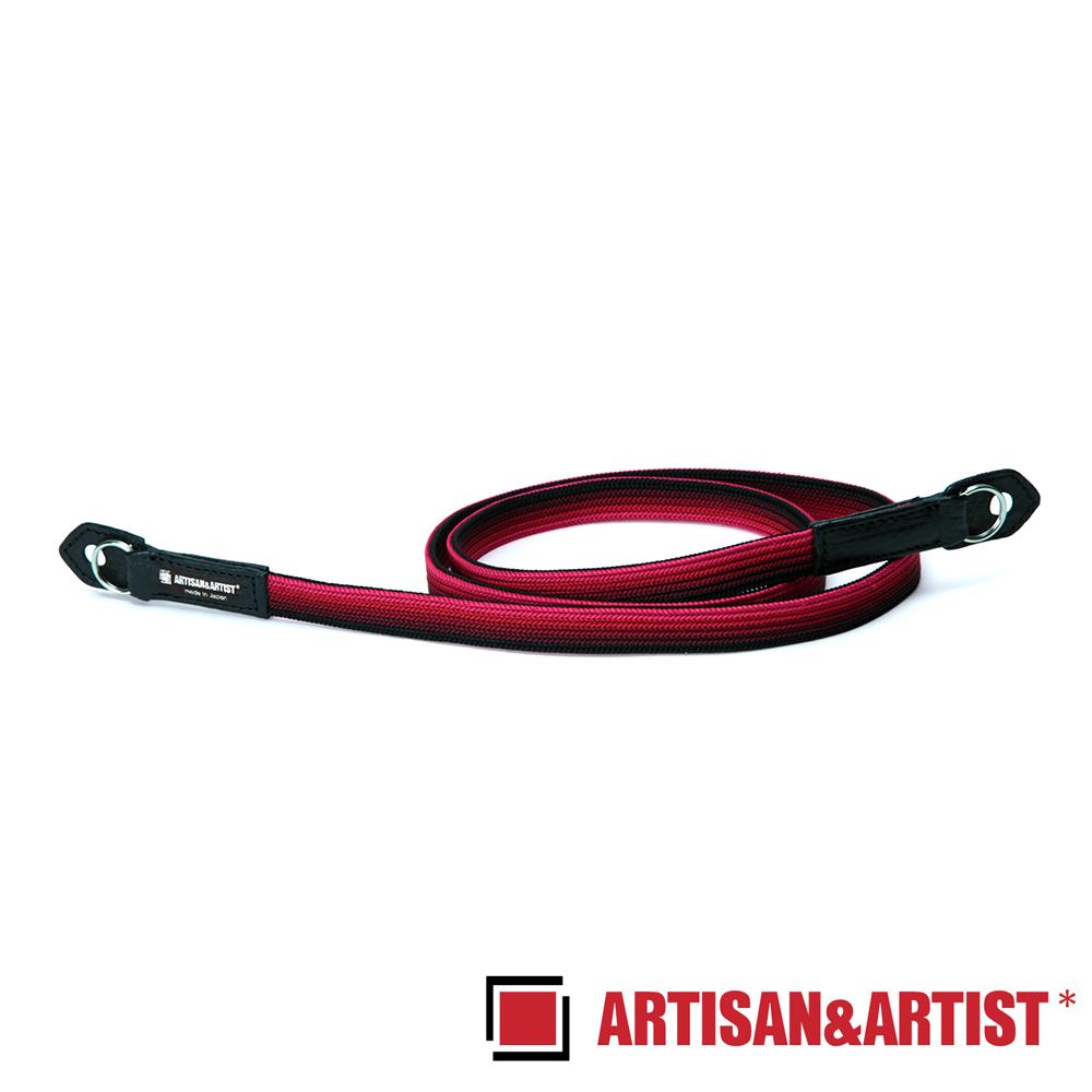 ARTISAN & ARTIST 絲質編織相機背帶 ACAM-312N(黑紅)