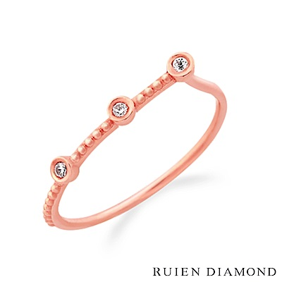 RUIEN DIAMOND 韓國輕珠寶 飾品 配件14K 玫瑰金 戒指 JR6438