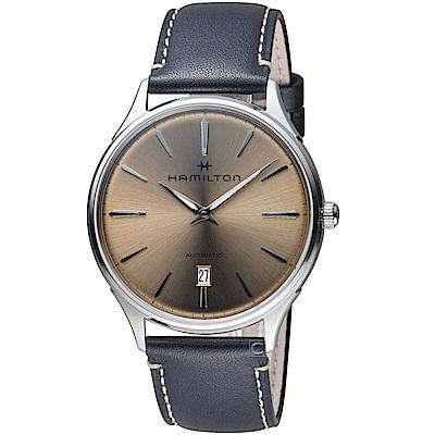 Hamilton漢米爾頓紐約星嵐系列極簡時尚機械腕錶(H38525721)-40mm/棕