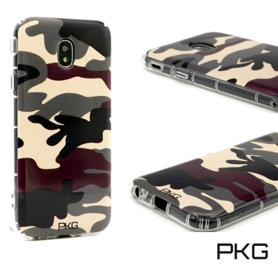 PKG SAMSUNG J7PRO 彩繪空壓氣囊保護殼-浮雕彩繪-軍事迷彩