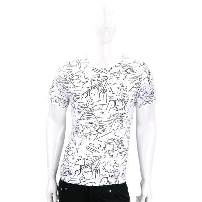 KENZO Sketches 白色女人像塗鴉棉質短袖T恤