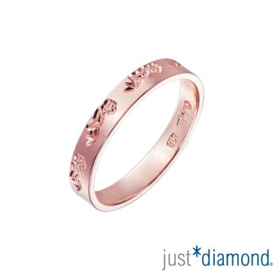 Just Diamond 18K玫瑰金戒指(3mm)-松竹梅