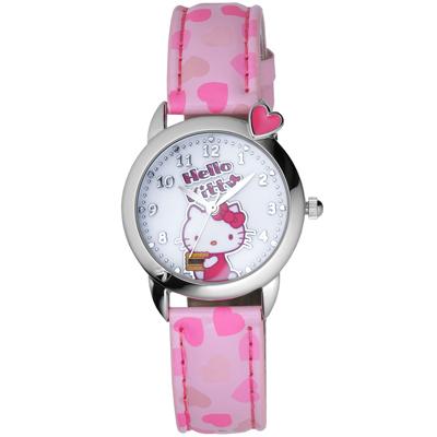 Hello Kitty 甜心餅乾俏麗腕錶-粉紅/28mm