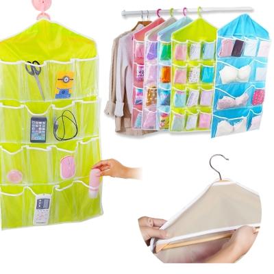 【超值2入】kiret 可掛式透明收納袋-大小款可選 多色隨機