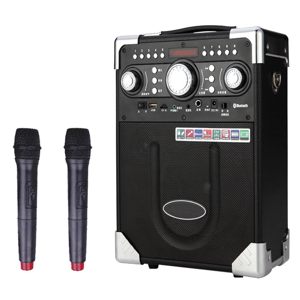 大聲公典雅型無線麥克風多功能行動音箱/喇叭 (雙無線話筒組)