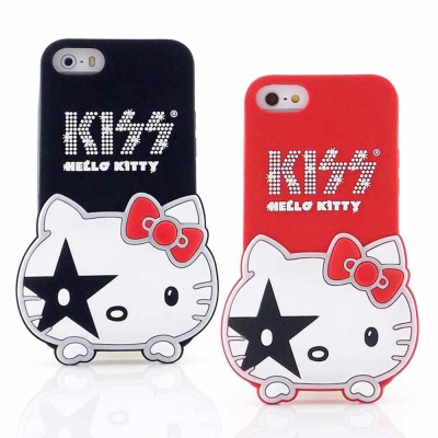 KISS HELLO KITTY iPhone 5/5S / SE/5c 立體造...