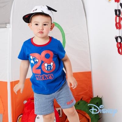 Disney 帥氣米奇休閒上衣+短褲兩入組 寶藍