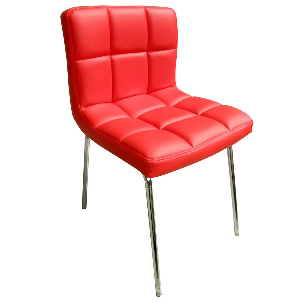 E-Style 高級精緻PU皮革椅面-洽談椅/電腦椅/會客椅/餐椅(三色可選)2入組