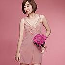 推Audrey-歡沁巴黎 居家型細帶洋裝(自信粉)