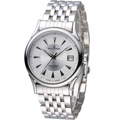 梭曼 Revue Thommen 華爾街系列時尚機械錶-銀色/37mm