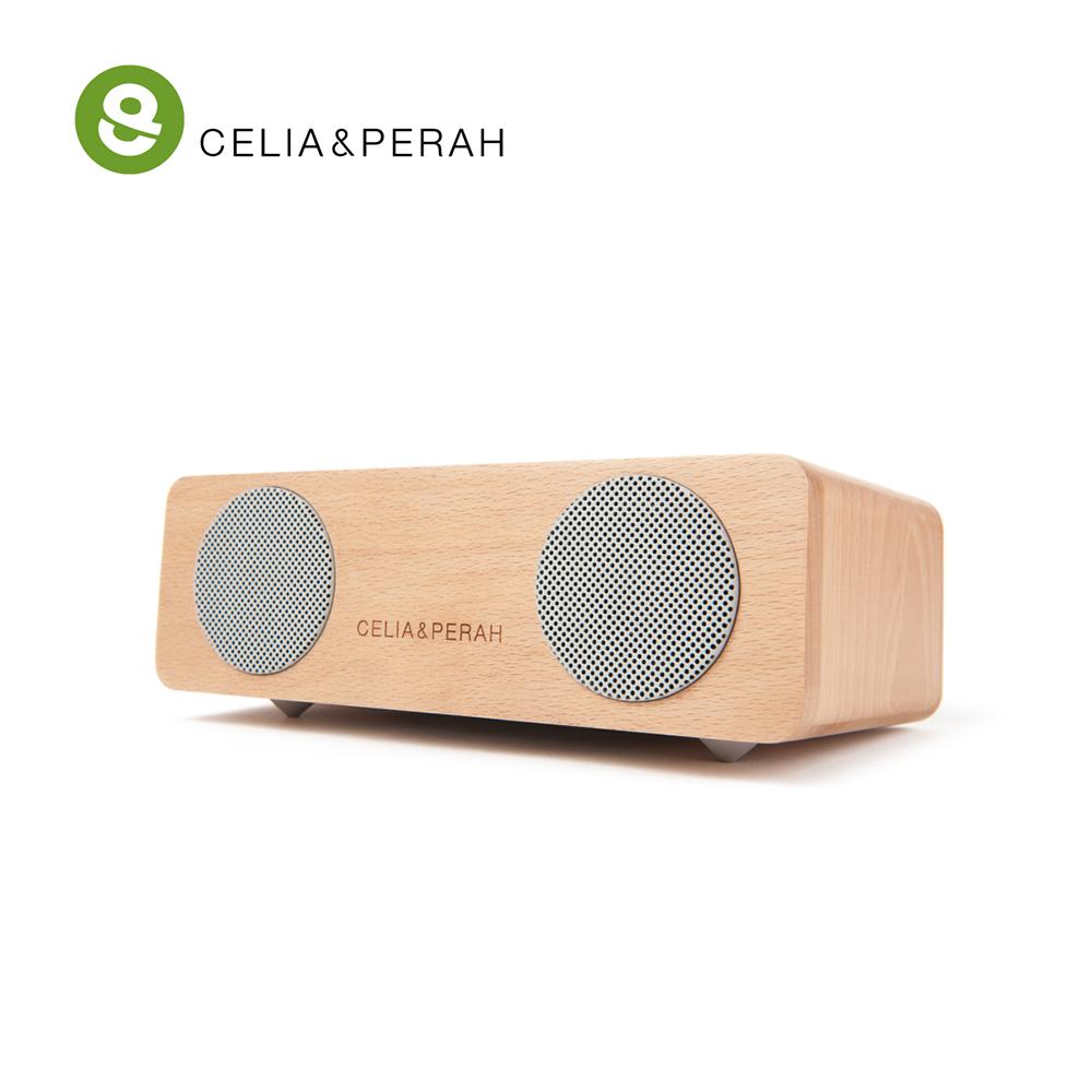 CELIA&PERAH M2 無線藍牙高傳真實木音響 (山毛櫸原木色)