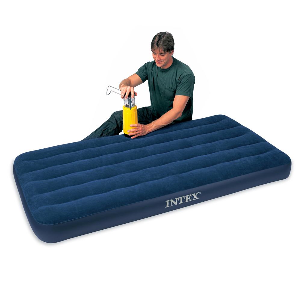 《INTEX》單人加大植絨充氣床墊-寬99CM