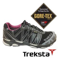 【Treksta】SYNC II 女GTX防水野跑鞋『紫紅』KR17AW