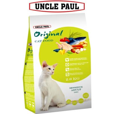 UNCLE PAUL 保羅叔叔田園生機貓食 2kg 低敏成貓 體態貓