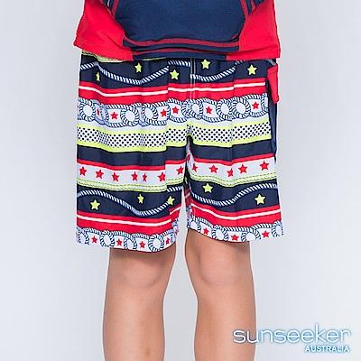 澳洲Sunseeker泳裝抗UV防曬海灘褲泳褲-大男童泳褲/海軍紅