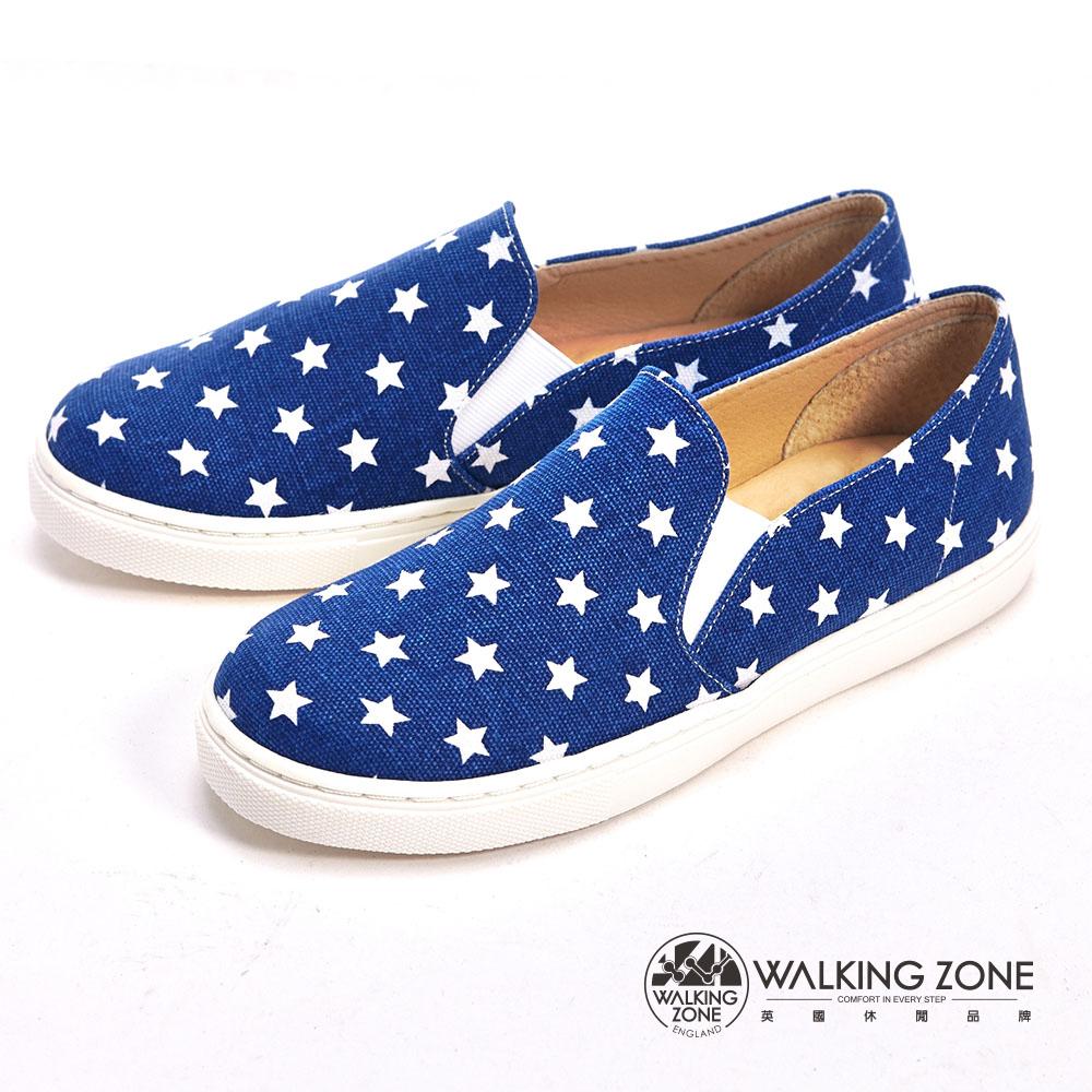WALKING ZONE 小星星直套內增高鞋-藍