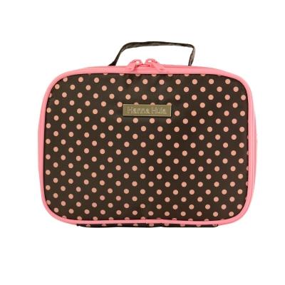 【Hanna Hula 日本】多用途隨身包-裝化妝品/衣物/當媽媽包裝尿片等(小點粉)