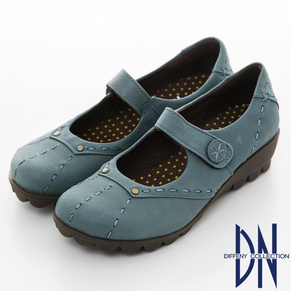 DN 頂級氣墊 全真皮減壓窩心美型休閒鞋 藍 @ Y!購物