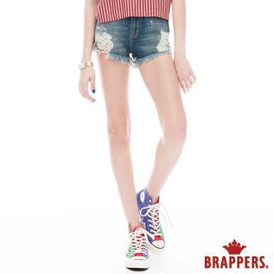 BRAPPERS 女款 Boy Friend Jeans系列-女用熱褲-淺藍