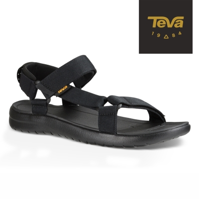 【TEVA】原廠貨 男 Sanborn Universal 輕量織帶涼鞋/雨鞋/水鞋(黑色-TV1015156BLK)