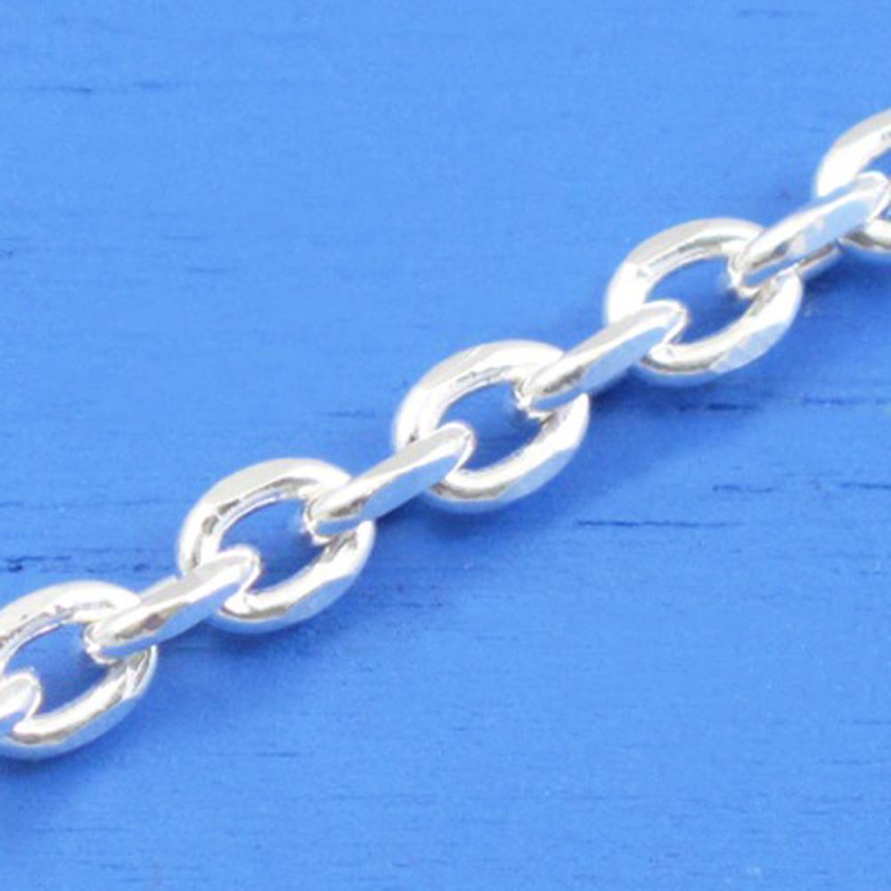 維克維娜 24吋純銀粗款-個性長圈鍊。義大利925純銀單鍊