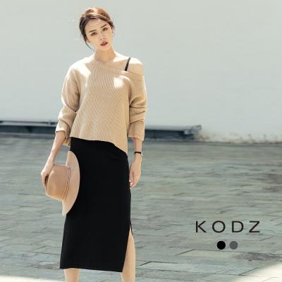 東京著衣-KODZ 歐美微性感時髦針織兩件式套裝-S.M.L(共二色)