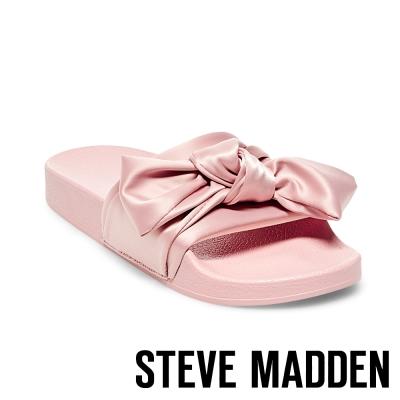 STEVE MADDEN-SILKY-PINK 緞面蝴蝶結厚底拖-粉色