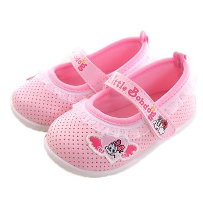 BOB DOG蕾絲裝飾魔鬼貼寶寶鞋 粉 sk0102 魔法Baby