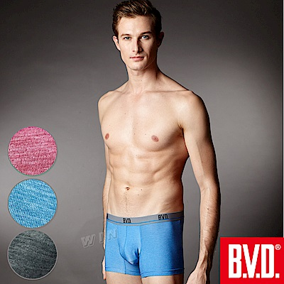BVD 超透氣絲滑彈力平口褲(混色 6 入組)-台灣製造