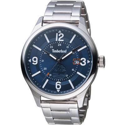 Timberland 時光之旅時尚潮流腕錶-藍/46mm