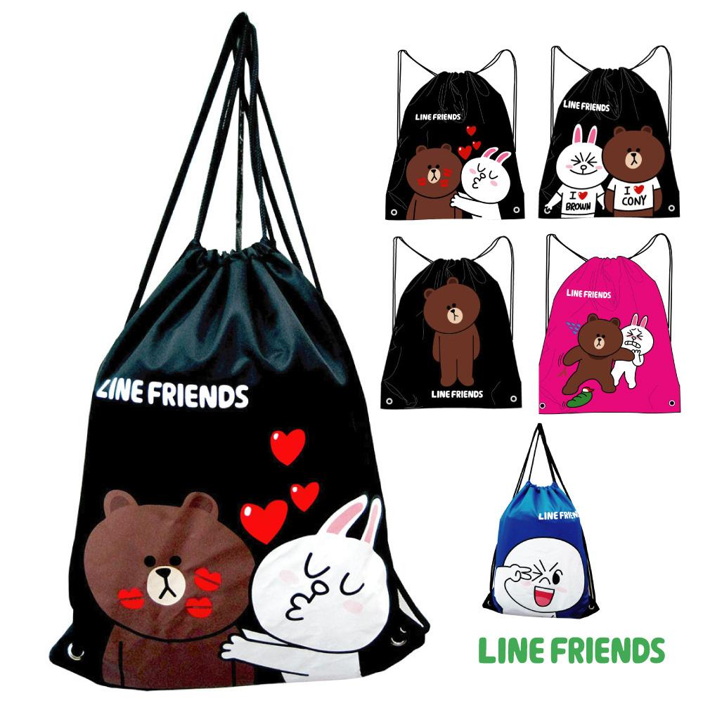 LINE FRIENDS 束口後背袋