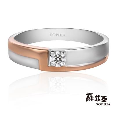 蘇菲亞SOPHIA 鑽石男戒 - 紅毯0.10克拉八心八箭鑽石男戒