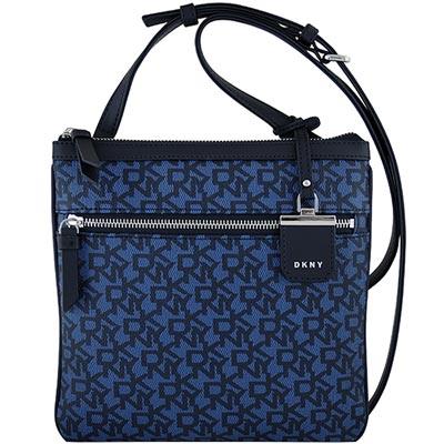 DKNY 藍色LOGO PVC斜背包