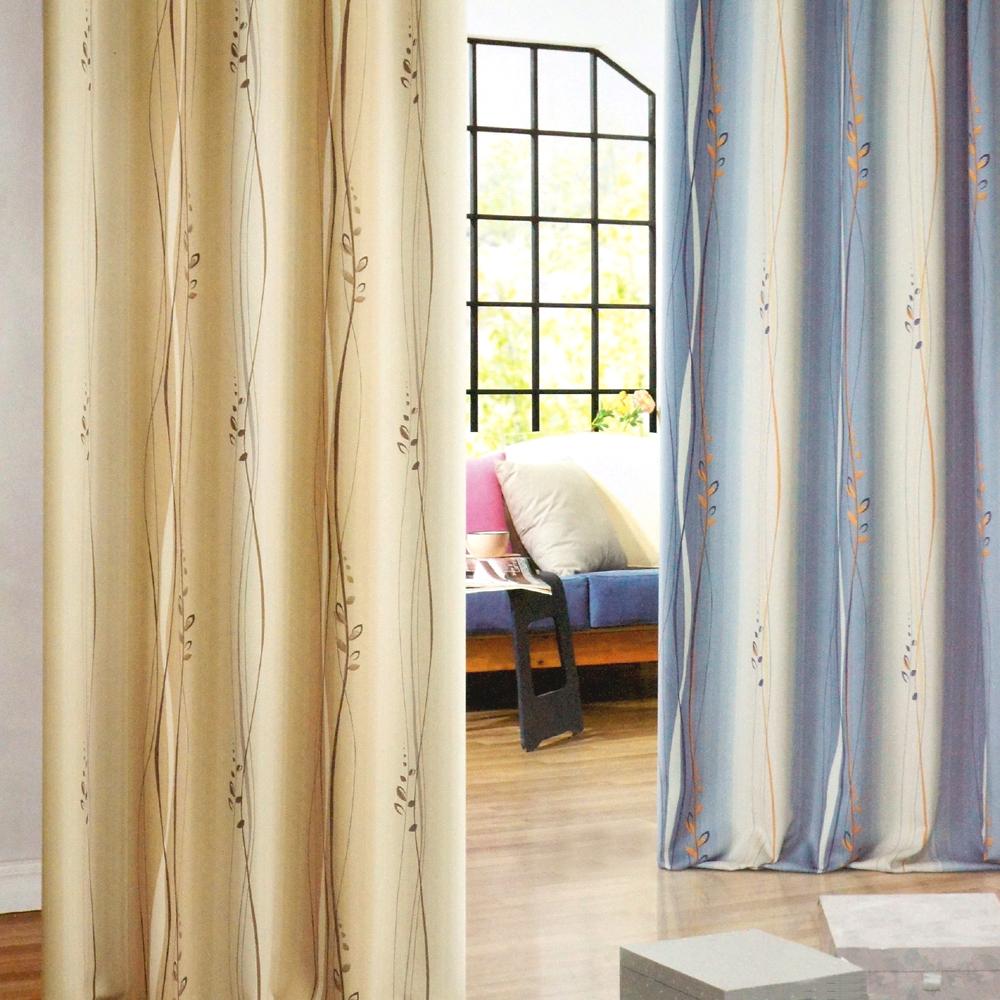 布安於室-東曲穿管式單層遮光窗簾-半腰窗(寬200x高165cm)