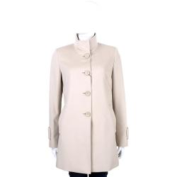 MaxMara 粉裸色立領設計釦式羊毛大衣