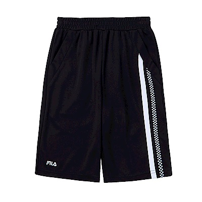 FILA KIDS 男童吸濕排汗5分褲-黑 1SHS-4439-BK